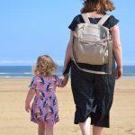 Beach Mum and Daughter walking copy